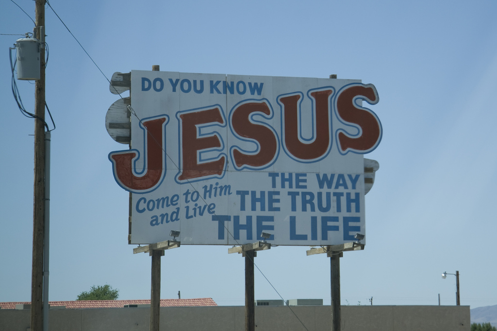 jesus road sign - beyond the contrast